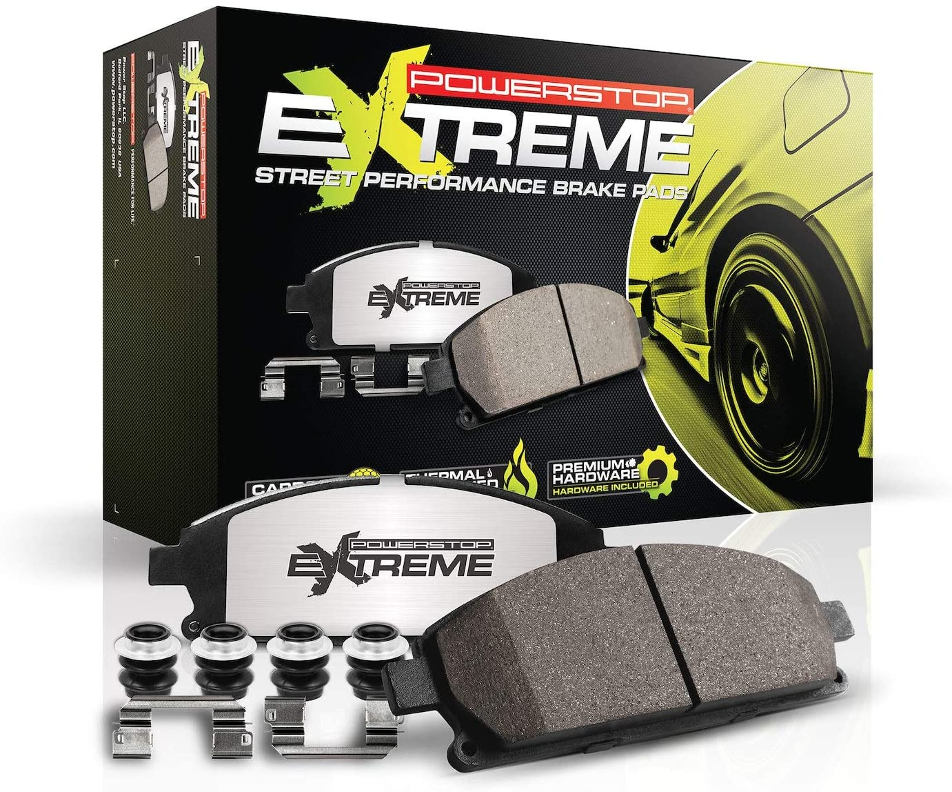 Power Stop Z26-1180 Z26 Rear Carbon-Fiber Ceramic Brake Pads