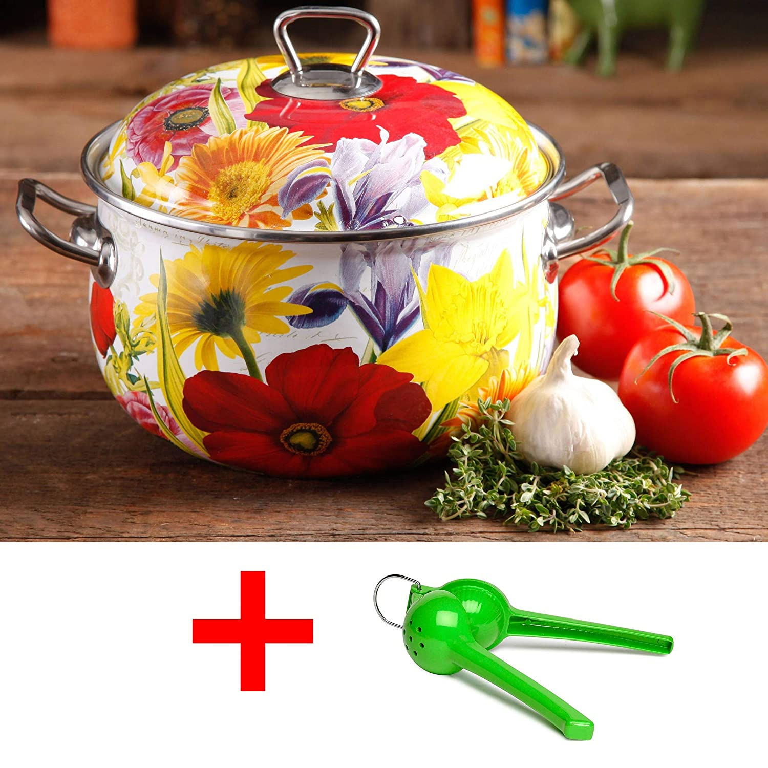 The Pioneer Woman Floral Garden 4-Quart Dutch Oven With Lime (4qt)