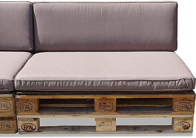 Nordje Comfort Palettenauflage 120x80 /& 120x40 mit oder ohne Dekokissen Grey ohne Dekokissen