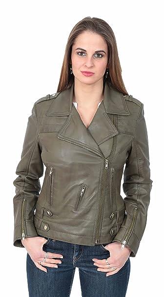 enjoy discount price enjoy cheap price stylish design A1 FASHION GOODS Latest Ladies Fitted Genuine Leather Biker ...