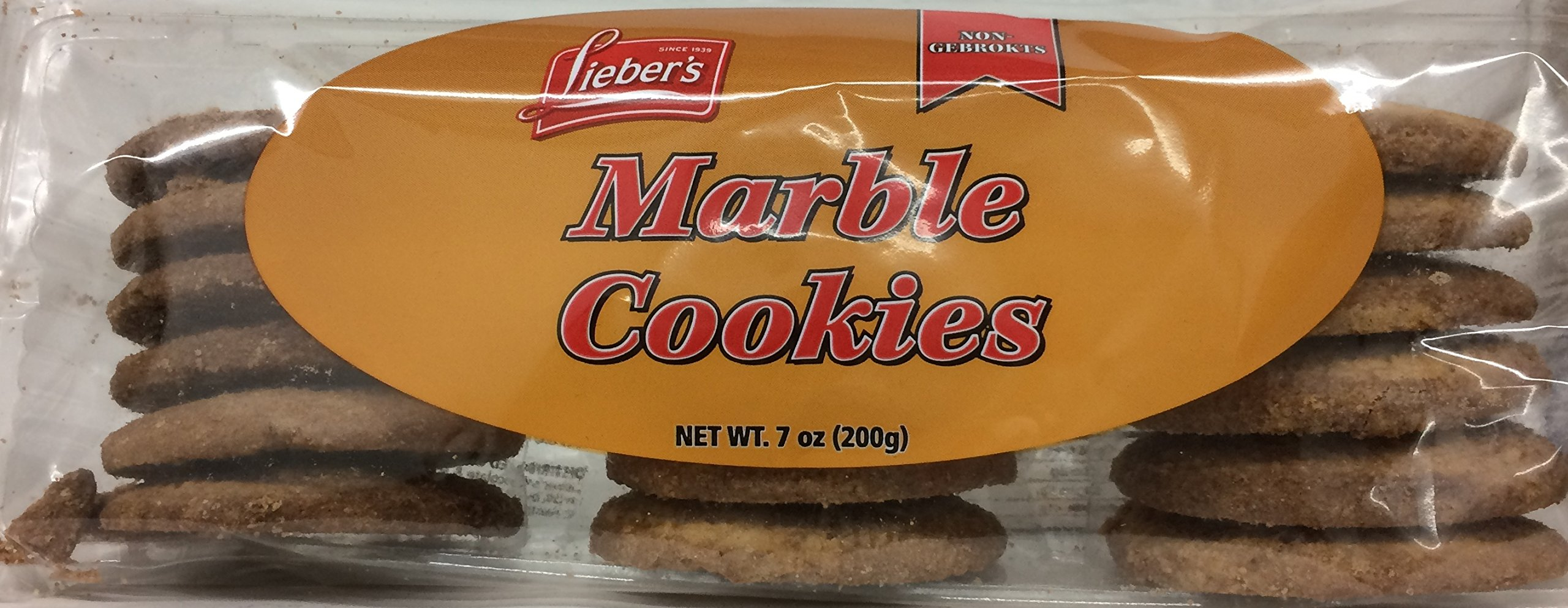 Lieber's Marble Cookies Non Gebrokts Kosher For Passover 7 Oz. Pack Of 3.