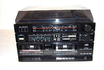 ORIGINAL Schaub-Lorenz convertible sistema compacto tocadiscos doble reproductor de casetes Radio: Amazon.es: Electrónica
