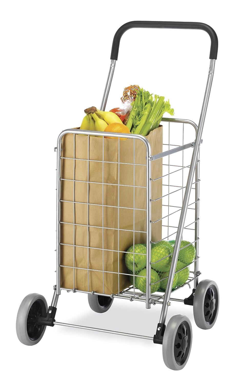 amazoncom whitmor utility shopping cart durable folding design for easy storage home kitchen - Rolling Utility Cart