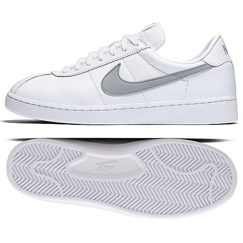 950b404f3480 Nike Bruin Leather  70s 826670-100 White Wolf Grey Ortholite Men s Shoes (