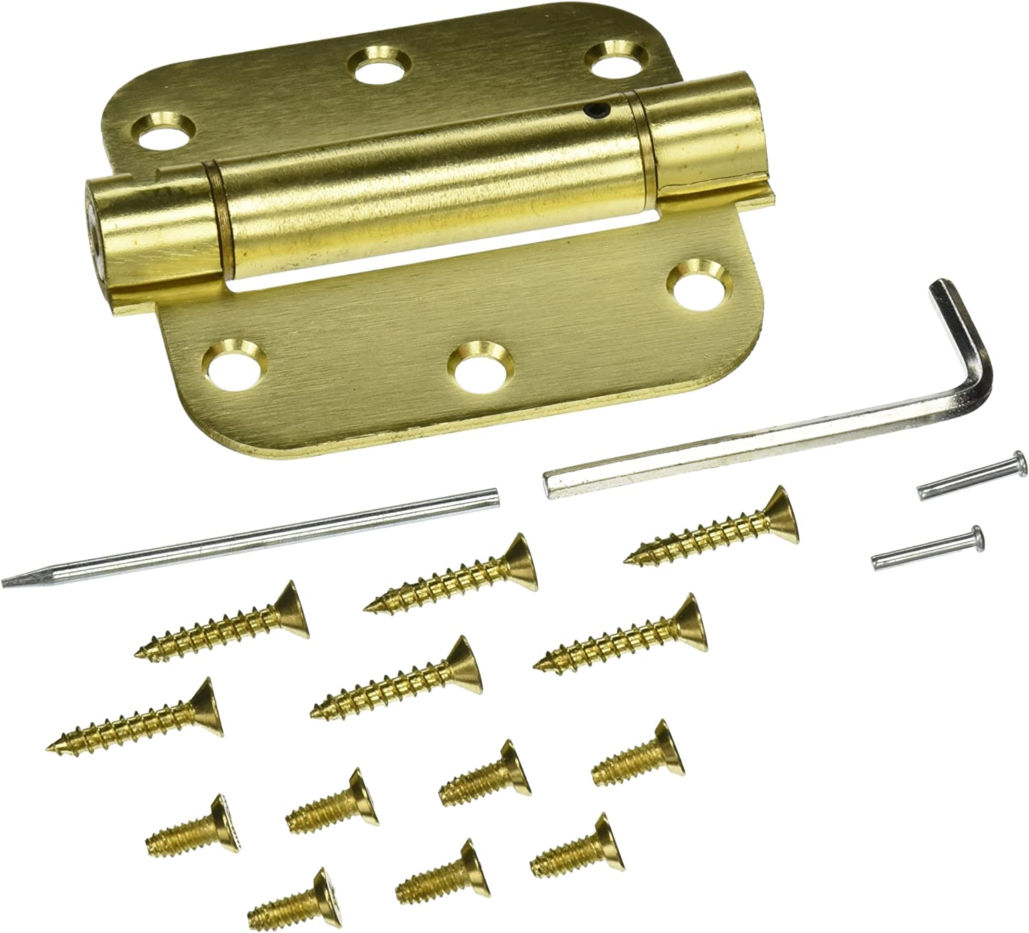 Deltana DSH35R54 Single Action Steel 3 1/2-Inch x 3 1/2-Inch x 5/8-Inch Spring Hinge