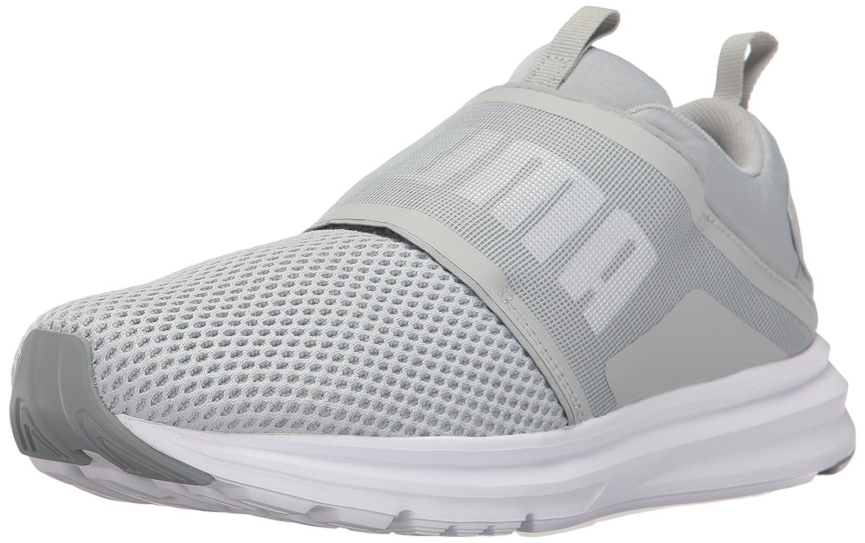PUMA Women's Enzo Strap Wn Sneaker B01MU1K53H 6 M US|Quarry-puma White