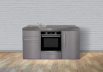 Miniküche Mit Kühlschrank 180 Cm : Miniküche premiumline mpbes u edelstahl u kühlschrank