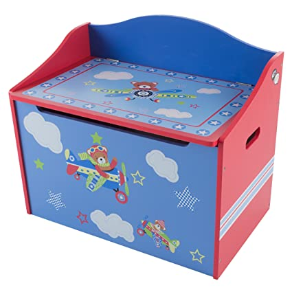 Amazon.com: Hey! Play! Toy Box-Storage Bench Seat for Kids ...