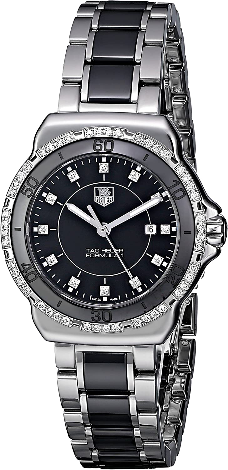 TAG Heuer Women s WAH1312.BA0867 Formula 1 Stainless Steel Two-Tone Watch with Diamonds