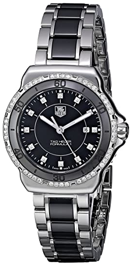 98ccd0081c8 Image Unavailable. Image not available for. Colour  Tag Heuer Women s  WAH1312.BA0867 Formula 1 Black Dial Dress Watch