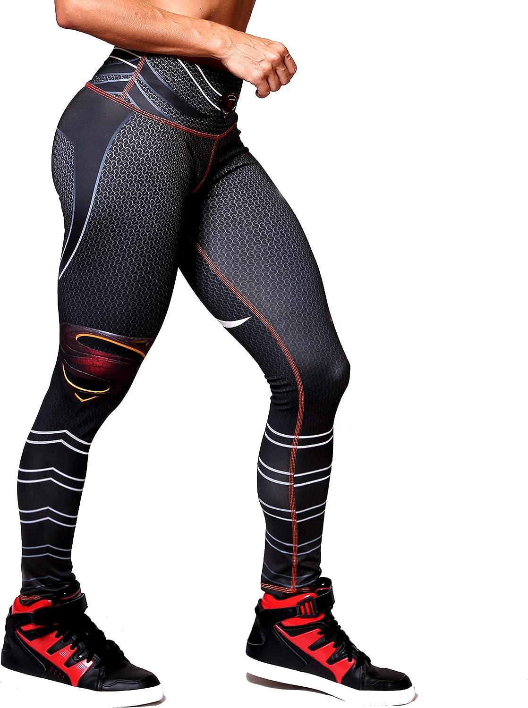 Active4U Superhero Crossfit Leggings Women Colombian Yoga Pants Compression Tights