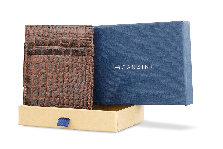 Garzini Spacious Smart Genuine Leather Magic Wallet RFID Blocking with ID Window for Men