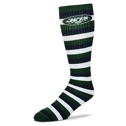 Amazon com: For Bare Feet New York Jets 511 Stripes Socks