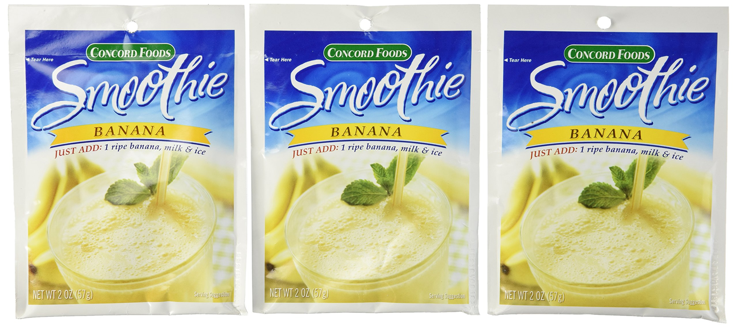 Concord Foods, Banana Smoothie Mix, 2oz Packet (Pack of 6)