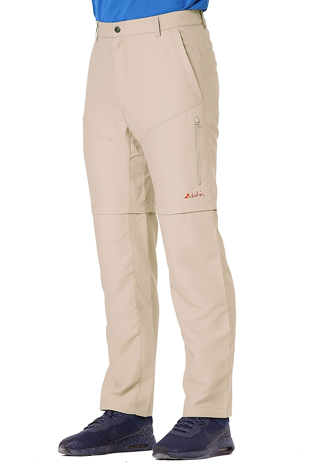 Clothin Men's Convertible Trousers w/Zip-Off Legs - Lightweight Breathable Quick-Dry