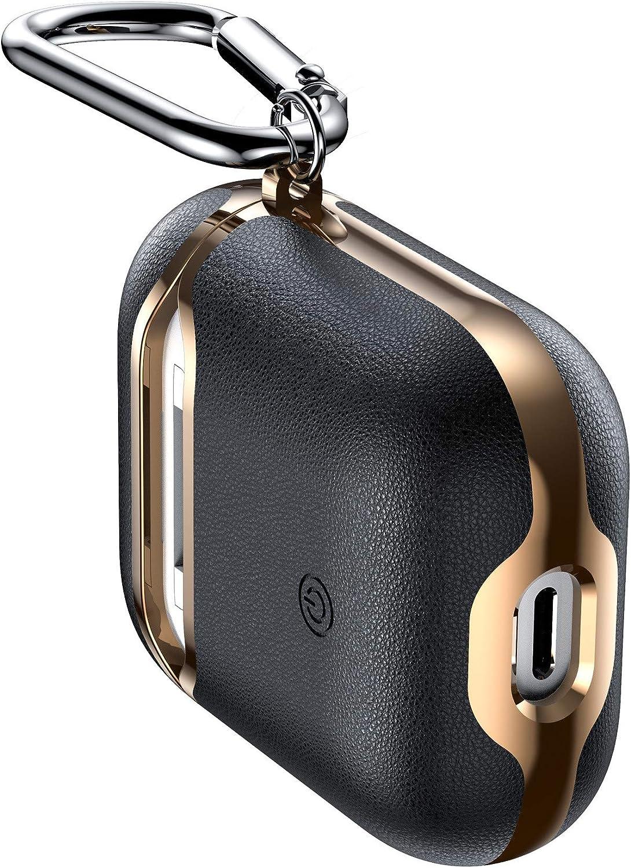 Compatible con Apple AirPods Accesorios con Gancho Llavero y Auriculares inalámbricos Estuche de Carga de Cuero galvanizado Resistente a los Golpes Funda Protectora Completa: Amazon.es: Electrónica