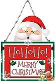 PRINTELLIGENT Merry Christmas Wooden Door Wall Hanging Plaque Poster - Size 15 x 12.5 inch