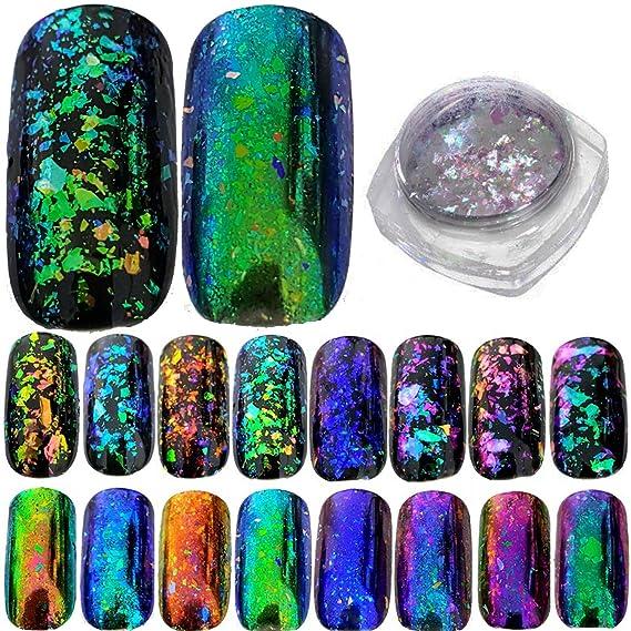 Atractivo Cromo En Polvo De Uñas De Color Patrón - Ideas de Pintar ...
