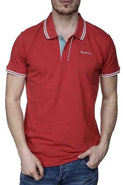 Pepe Jeans Polo Mitch Rojo Hombre XXL Rojo: Amazon.es: Ropa y ...