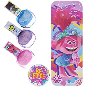 Townley Girl Trolls World Tour Nail Polish with Themed Purse, Age 3+ - 3 Pack