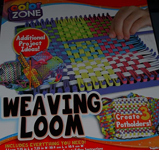 Amazon Color Zone Weaving Loom Kit Make 3 Potholders Toys