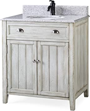 32 Benedetta Distressed Gray Rustic Bathroom Vanity Hf 4244 Amazon Com