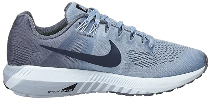 Nike Damen W Air Zoom Structure 21 Traillaufschuhe, Schwarz (Black/White/Wolf Grey/Cool Grey 001), 37.5 EU