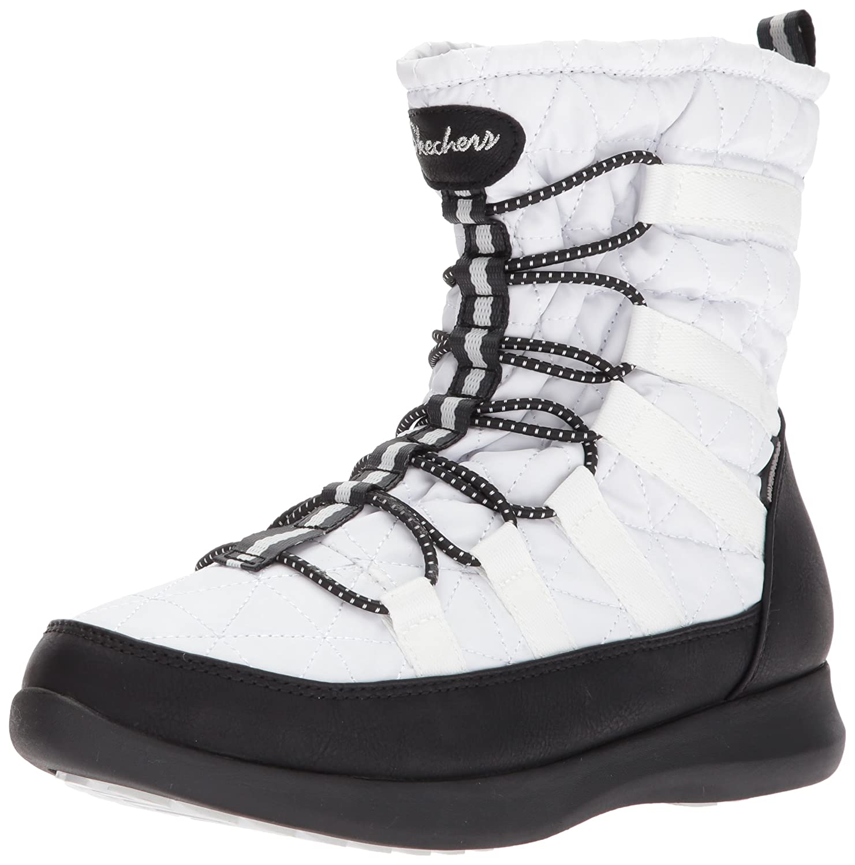 Skechers Damen Boulder Stiefel  37 EU|Wei? / Schwarz