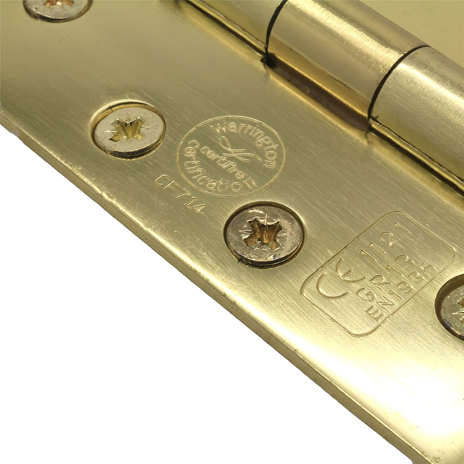 Quality 100mm Fire Door Fittings 5 Pairs of Brass Double Ball Bearing Hinges