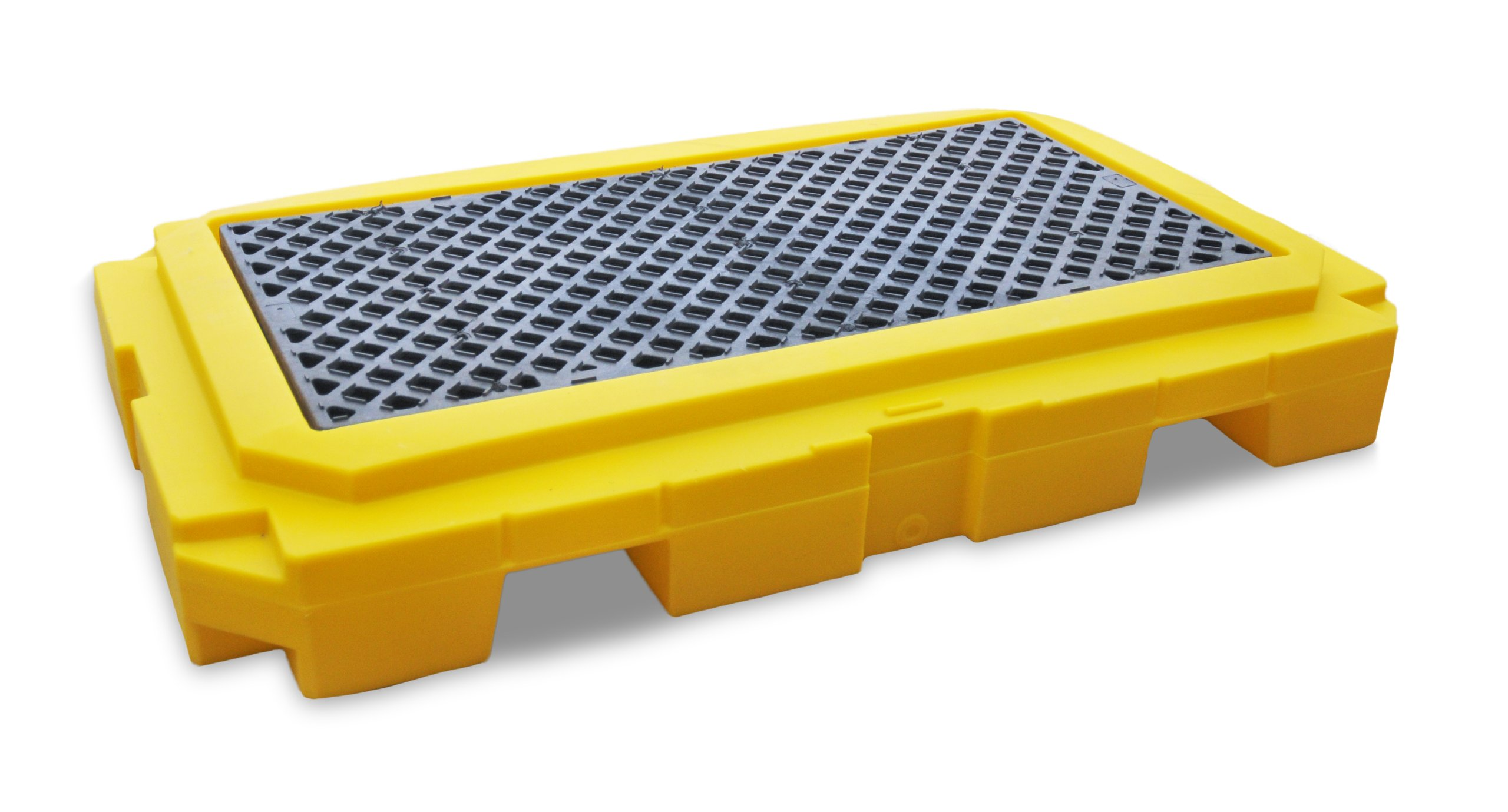 UltraTech 9611 Premier Polyethylene Ultra-Spill Pallet P2 Plus with Drain, 4500 lbs Capacity, 5 Year Warranty, Yellow