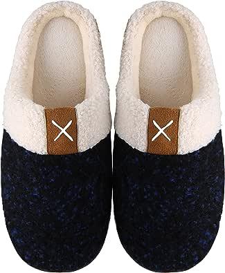 Mishansha Two-Tone Memory Foam Slippers, Unisex-Adulto