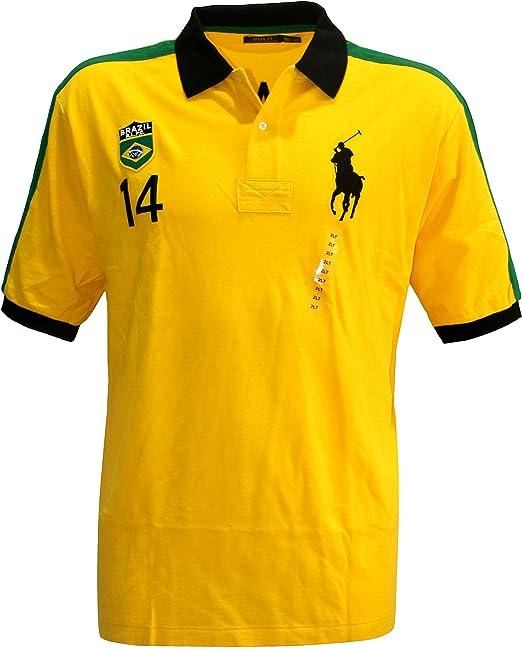 Polo Ralph Lauren Hombre Pony camiseta Top Brasil Custom Fit Big y ...