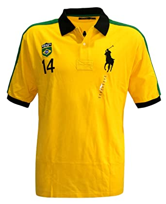 Polo Ralph Lauren Hombre Pony camiseta Top Brasil Custom Fit Big y ...