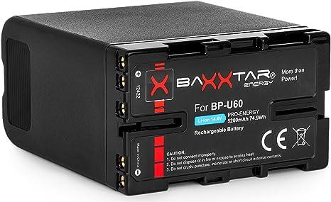 Baxxtar Pro Batería para Sony BP-U60-5200mAh: Amazon.es: Electrónica