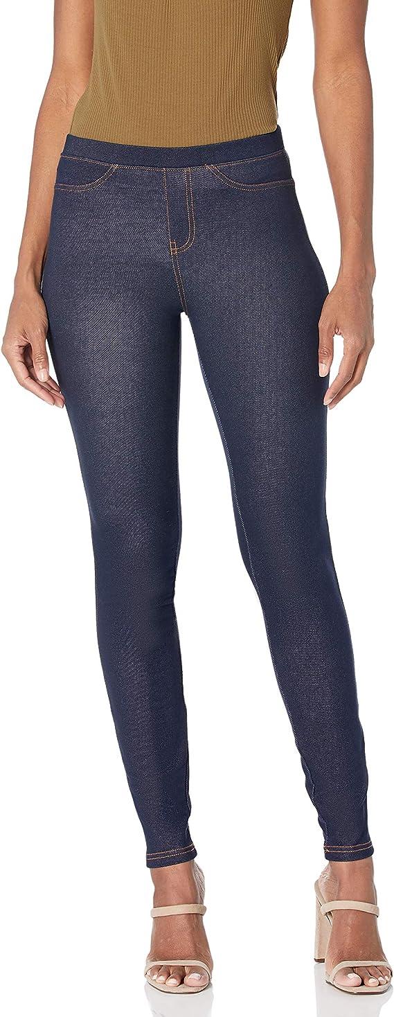Damen Leggings Jeans Leggins Hose Stretch Jeggings THERMO Treggings Gr 36-42