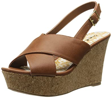 06fcba3c612 Qupid Women's Ardor-35 Wedge Sandal