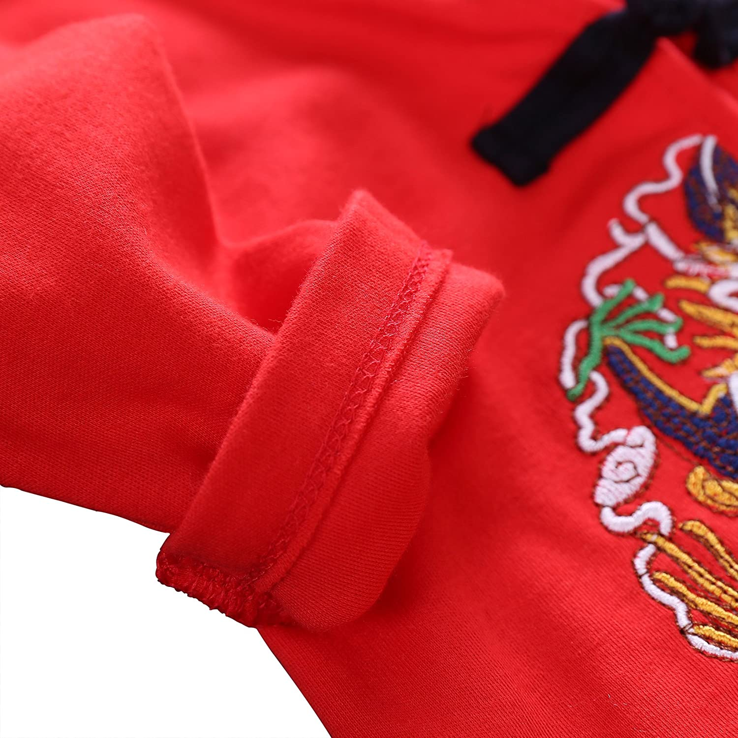 Chinese Dragon Outfit Tang Suit For Baby Embroidery Style Long Romper Long Sleeve Tang Suit