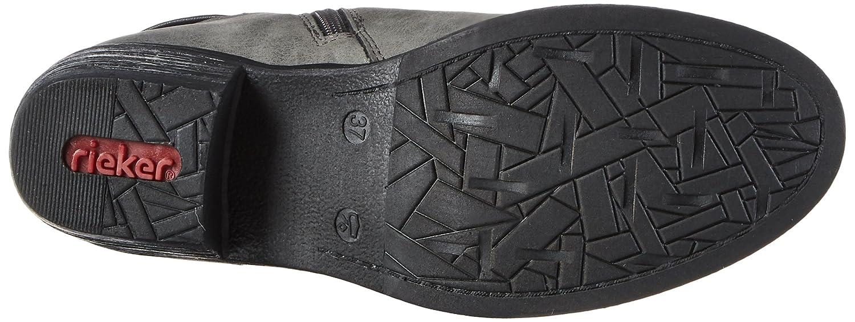 Rieker Damen 93159 Stiefel Grau Grau Stiefel (Smoke/schwarz/Schwarz) a1be46