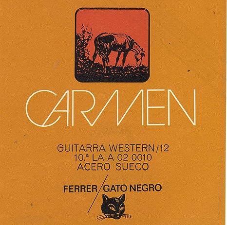 Juego de cuerdas para guitarra acústica 12 cuerdas Gato Negro ...