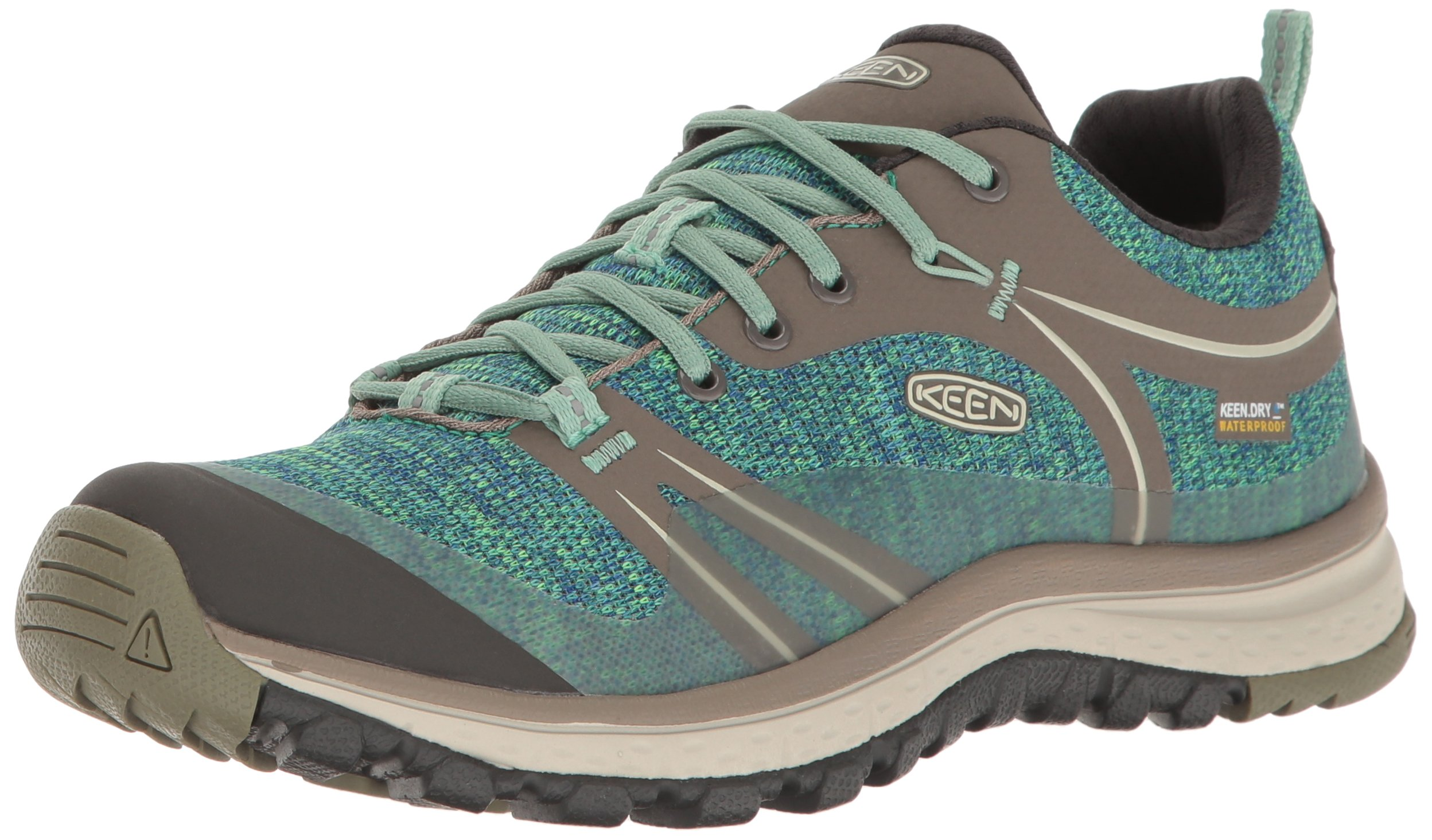 KEEN Women's Terradora Waterproof Hiking Shoe, Bungee Cord/Malachite, 9 M US
