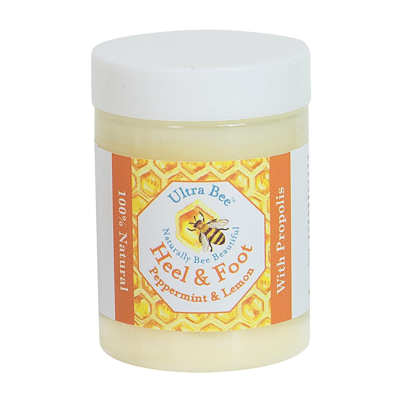 Crema 100% Natural para Talones & Pies Agrietados con Miel & Menta de 100ml Ultra Health