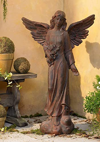 Kensington Hill English Tudor Angel Outdoor Statue 41 1/2″ High Sculpture
