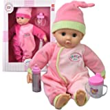 New Born Baby Doll with Baby Sounds Soft Bodied Doll Girls Pretend Play Toy