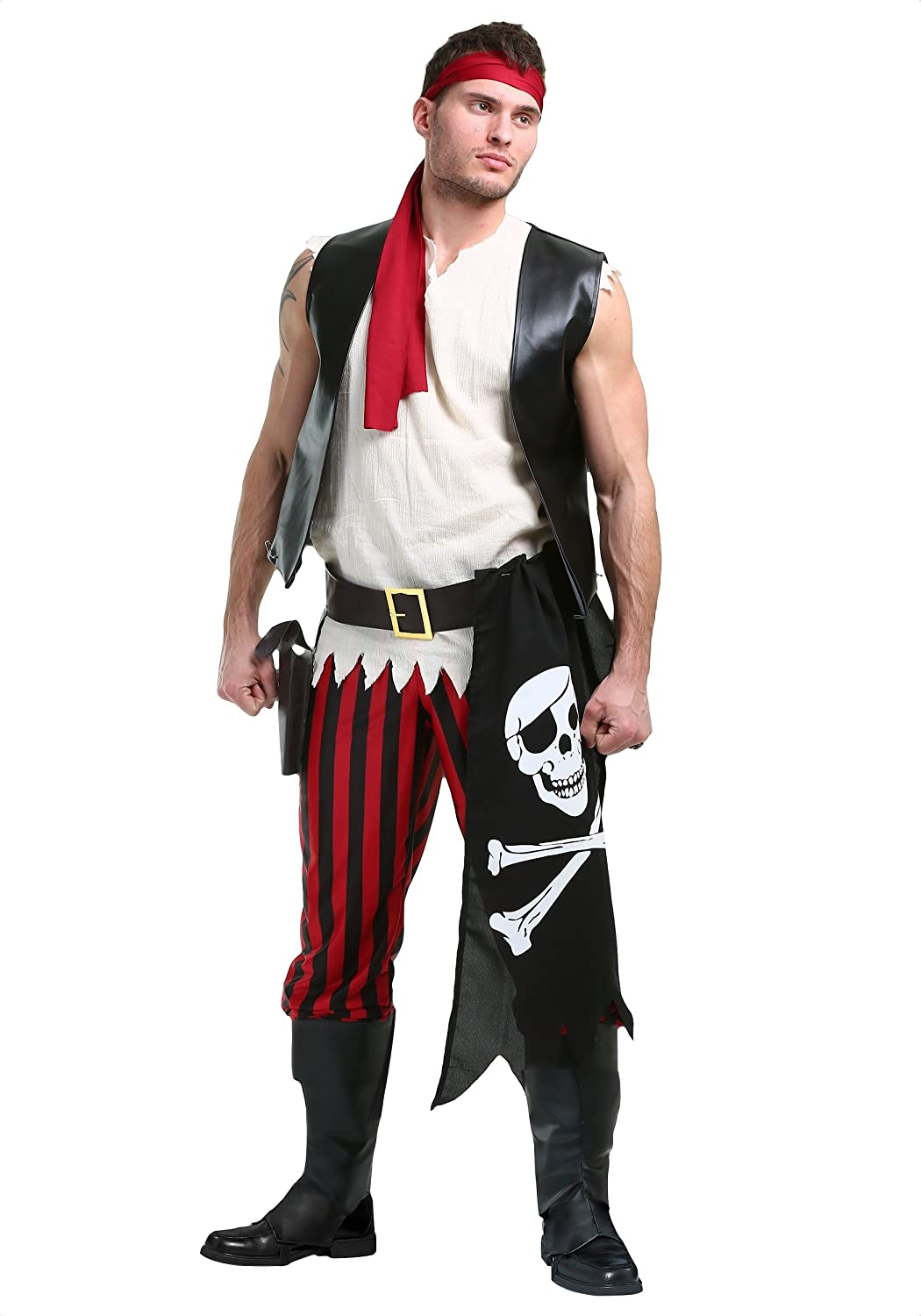Uomo Fighting Deckhand Pirate Fancy Dress Costume Medium