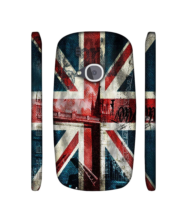 Casotec London Flag Wallpaper Design 3d Printed Hard Back Case Cover For Nokia 3310