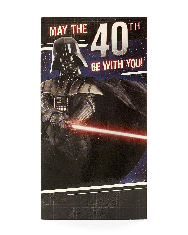 Amazon.com: star wars 40th Tarjeta de felicitación de ...