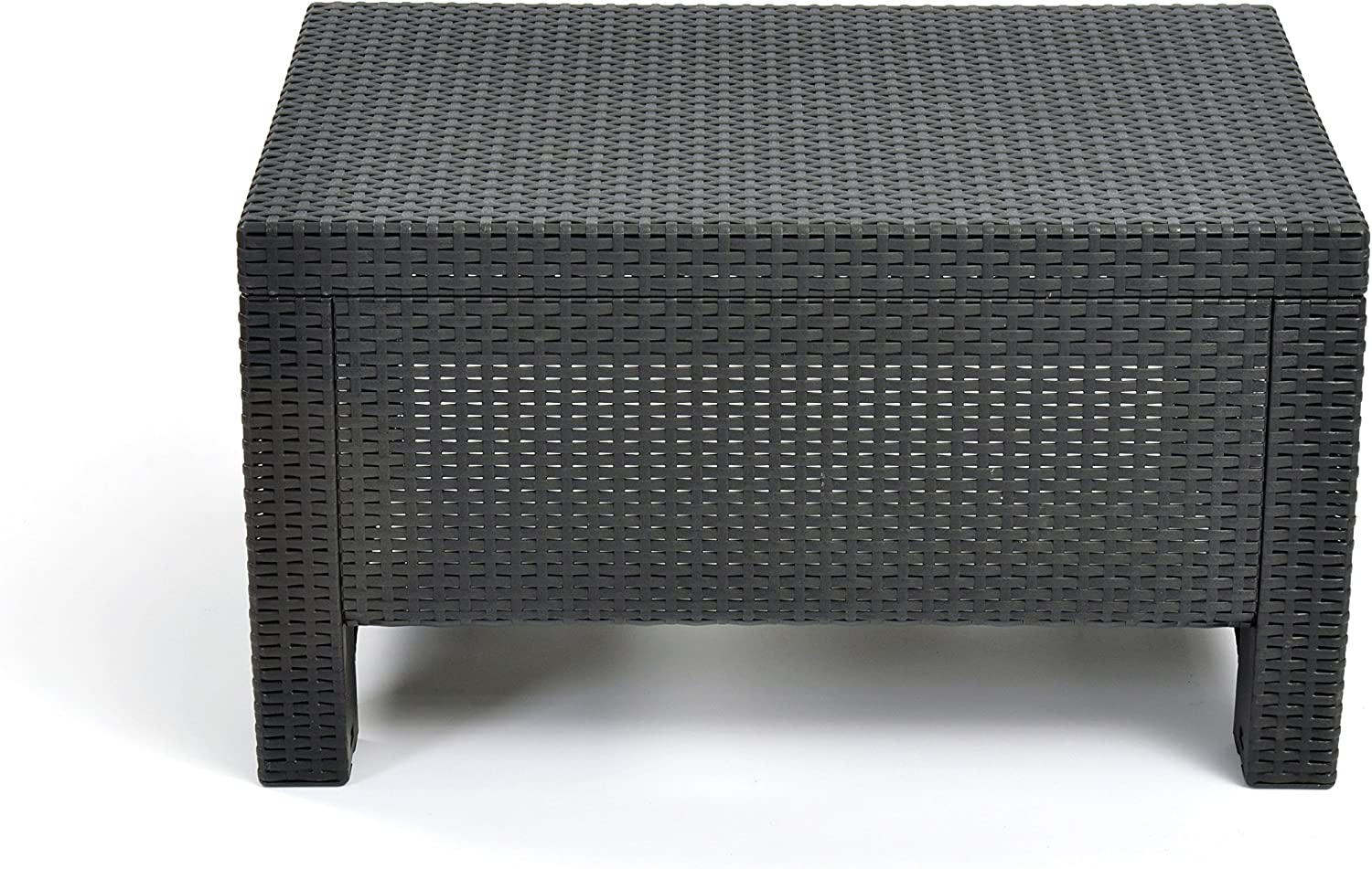 Keter Corfu Coffee Table Modern All Weather Outdoor Patio Garden Backyard Furniture, Charcoal : Coffee Tables : Garden & Outdoor