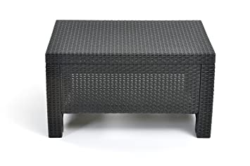 Keter Corfu Coffee Table New All Weather Outdoor Patio Garden Backyard  Furniture, Charcoal