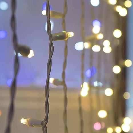 buy popular 78997 88d68 Warm White Craft Lights, LED String Lights Curtain Lights for Crafting –  Warm LED Curtain Lights, Small Craft LED Lights, White Wire (50 Lights, 25  ...