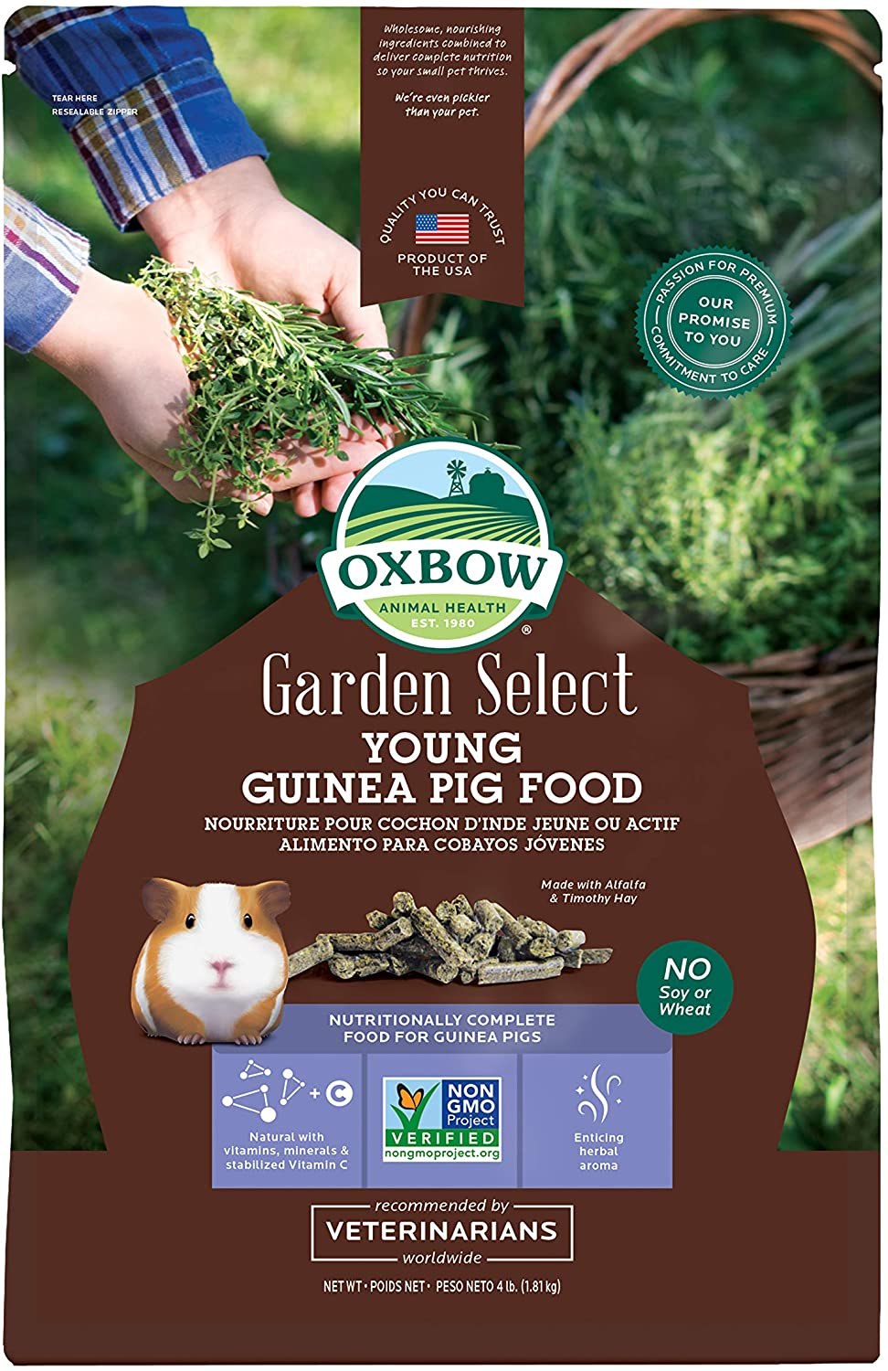 Oxbow Garden Select Young Guinea Pig Food 4 lb